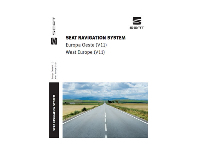 Map Update for SEAT Media System 2.1/2.2 Western Europe V.11