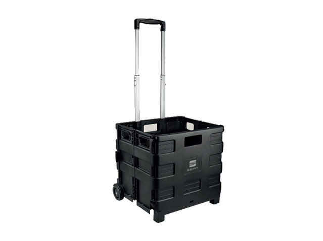 Folding cart for luggage compartment