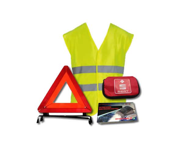 Sigurnosni paket (sigurnosni trokut + reflektirajući prsluk + prva pomoć + svjetiljka)