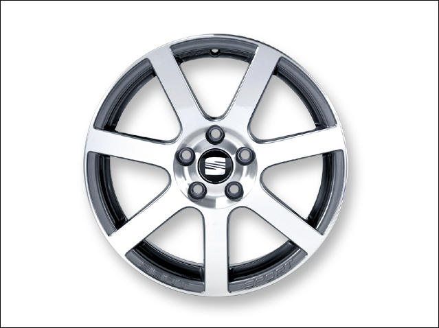 "17"" alloy wheel, anthracite/polished silver"