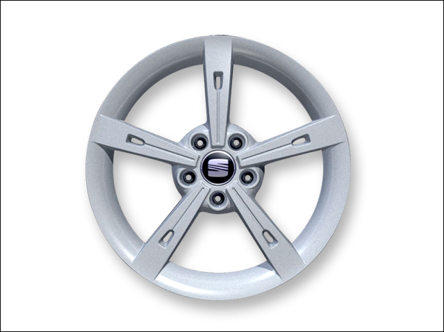 "17"" alloy wheel, Metallic silver ALHENA"