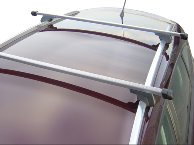 Roof bar set light aluminium