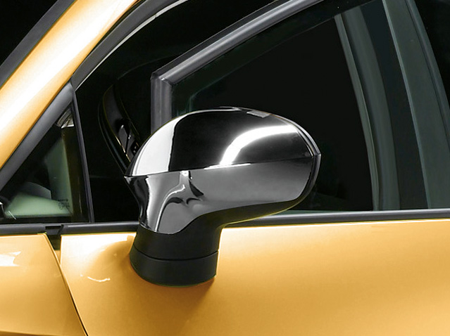 Customised side mirrors - Bright chrome finish
