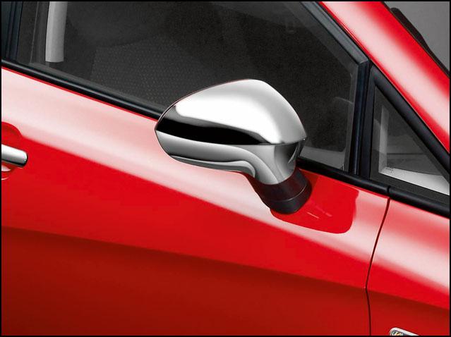 Customised side mirrors - Bright chrome finish