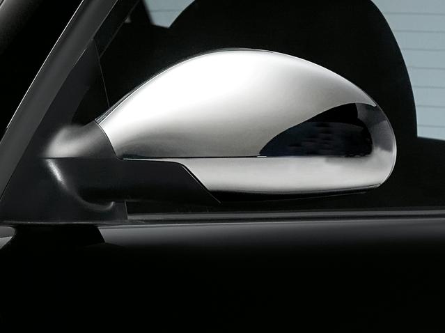Matt chrome side mirror casing