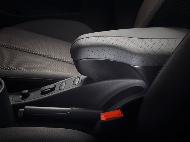 Black leather armrest for AUX-In