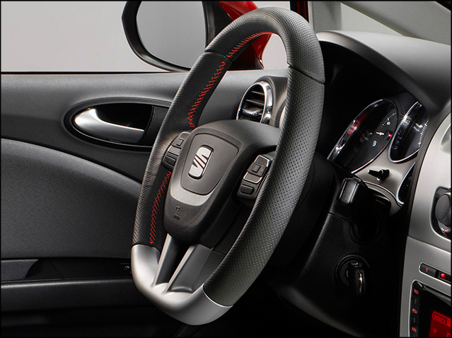 Aluminium sport steering wheel
