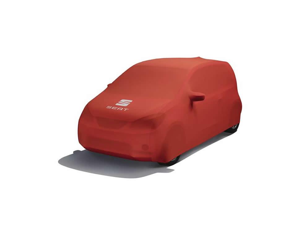 Husă auto roșie  - Noul logo SEAT