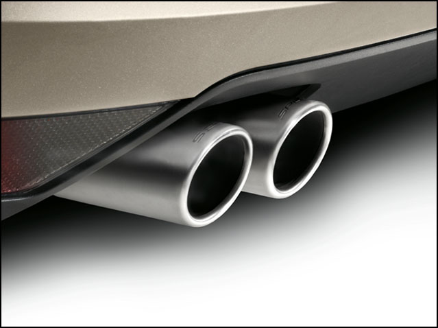 Twin tailpipe (engine specifications BLR, BVY, BKD, AZV, BMM, BWA, BWA1, BMN, BVZ)