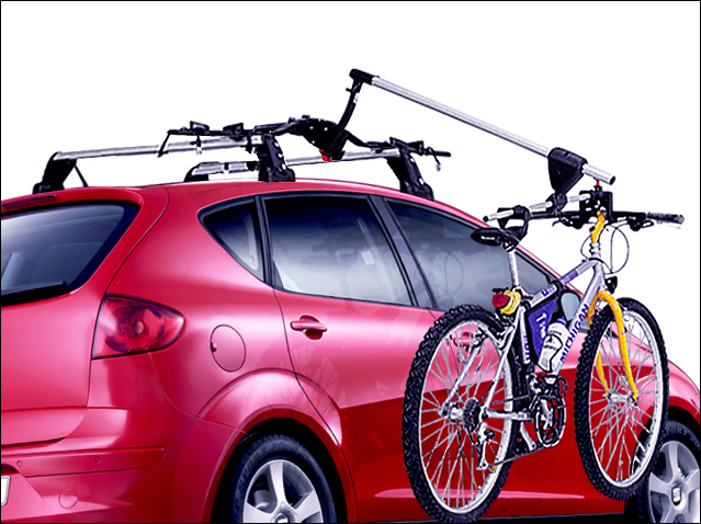 Bicycle rack with hoist