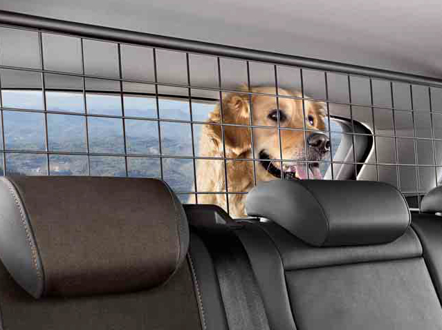 Luggage compartment separation grille for pets