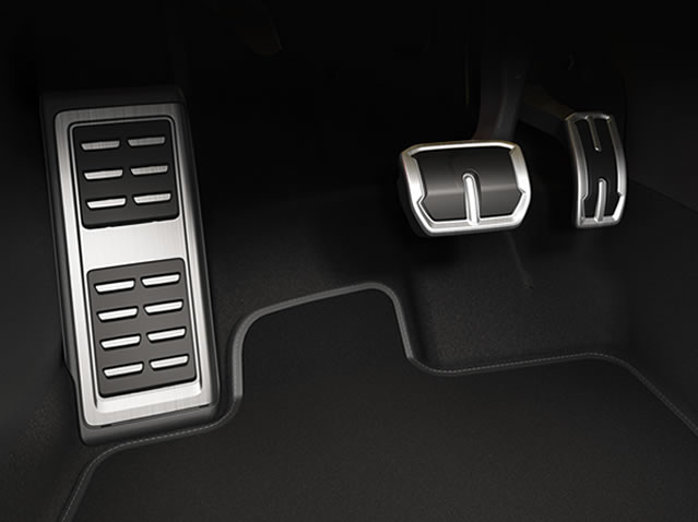 Automatic gearbox pedals