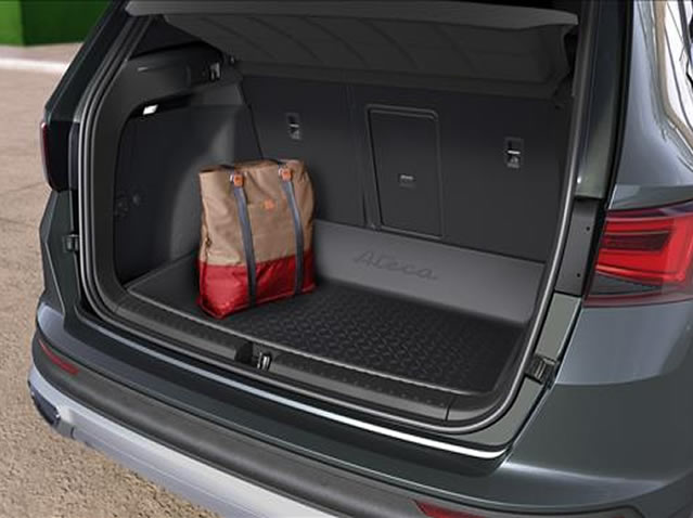 High-edge protective luggage compartment inlay