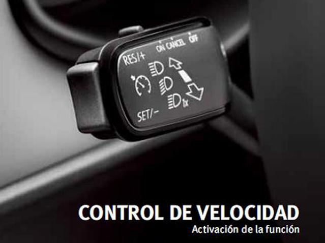 Aktiviranje kontrole brzine za vozila s elementom za rukovanje na kolu upravljača