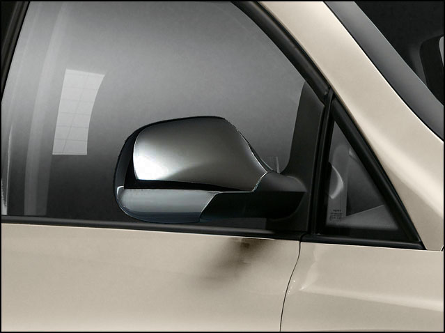 Side mirror cover, aluminium finish