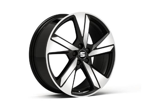 18'' aluminium wheel, diamond cut, matte black