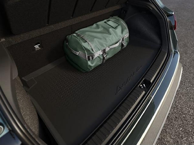Luggage compartment protective tray
