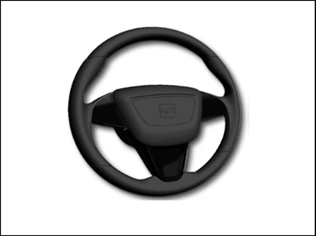 Set of piano black steering wheel trim