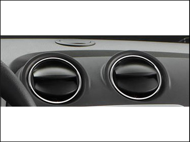 Set of chrome air vents