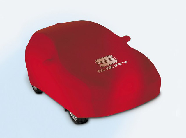 Red car cover