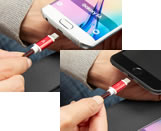 Charging cable for iPhone and Android smartphones