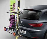 Tow hook ski carrier