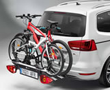 Towing bracket bicycle carrier