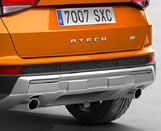 Rear bumper trim (single exhaust, 2 holes)- cover