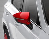 Emotion Red exterior mirror