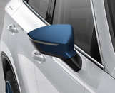Mystery Blue exterior mirror