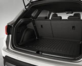 Protective luggage compartment inlay, Semi-rigid