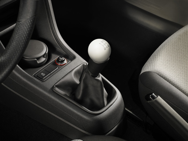 Candy White spherical gear knob